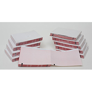 THERMAL PAPER 110MM WIDE, RED GRID 100MM WIDE, Z-FOLD, BLOCK QUEUE,200 SHEETS, 10 PACKS