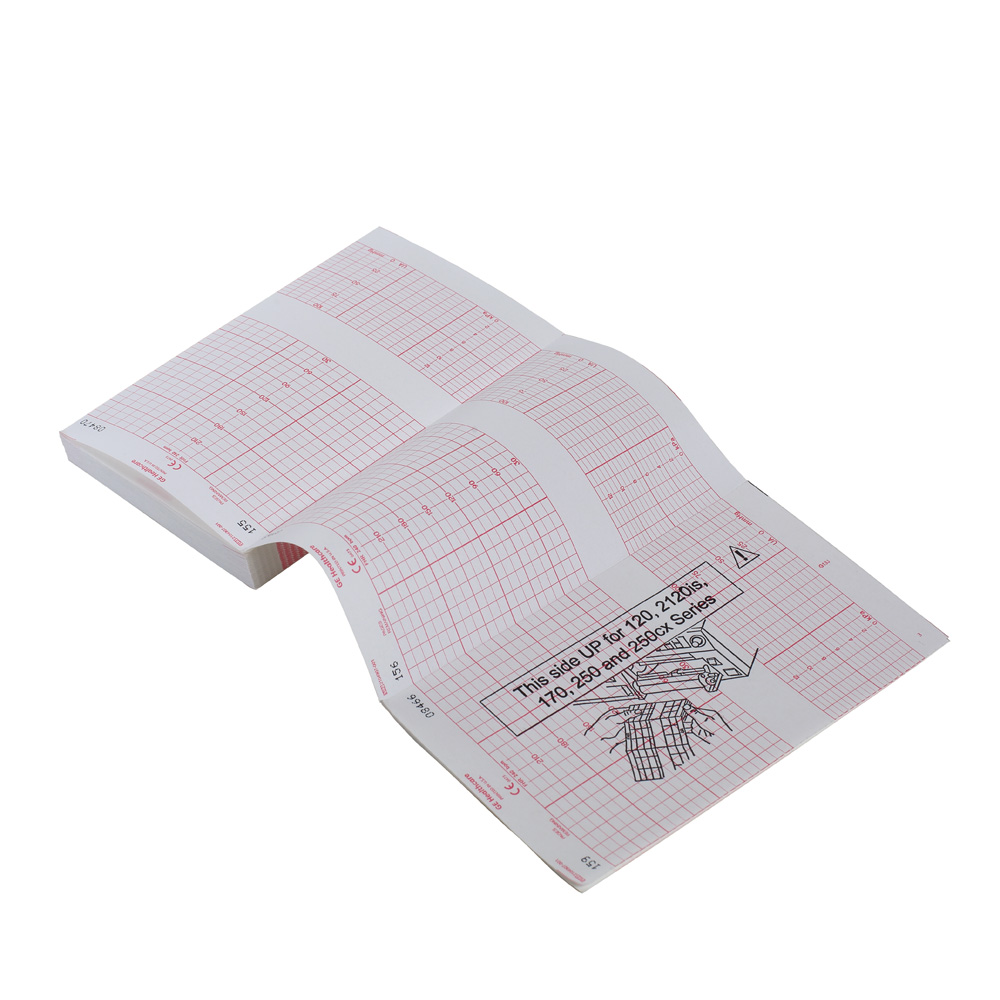 Thermal GE paper fetal monitors 30-240 bpm scaling, 170 series and 250cx series 40 packs/case