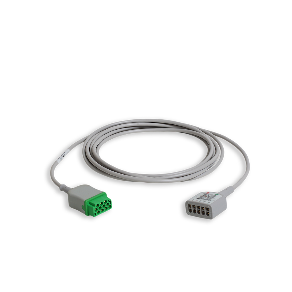 ECG Trunk Cable with 3/5-Lead Connector AHA, 3.6 m/12 ft.