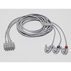 ECG Leadwire set, 3-lead, grabber, AHA, 130 cm/ 51 in