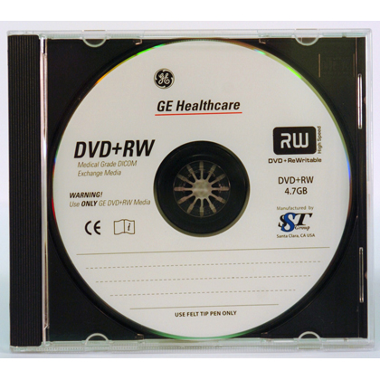4.7GB DVD+RW Medical Grade Media 5/Pack Jewel Case