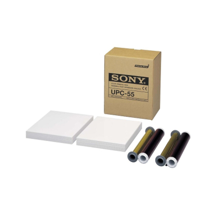 Sony UPC-55  A5 Color Ink and Paper  (200 Sheets per pack with two ribbons)