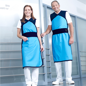 Synergie apron - Model 632 - Medium, Length = 110cm, Light Blue (Curacao), 0.50mm Pb Equivalent