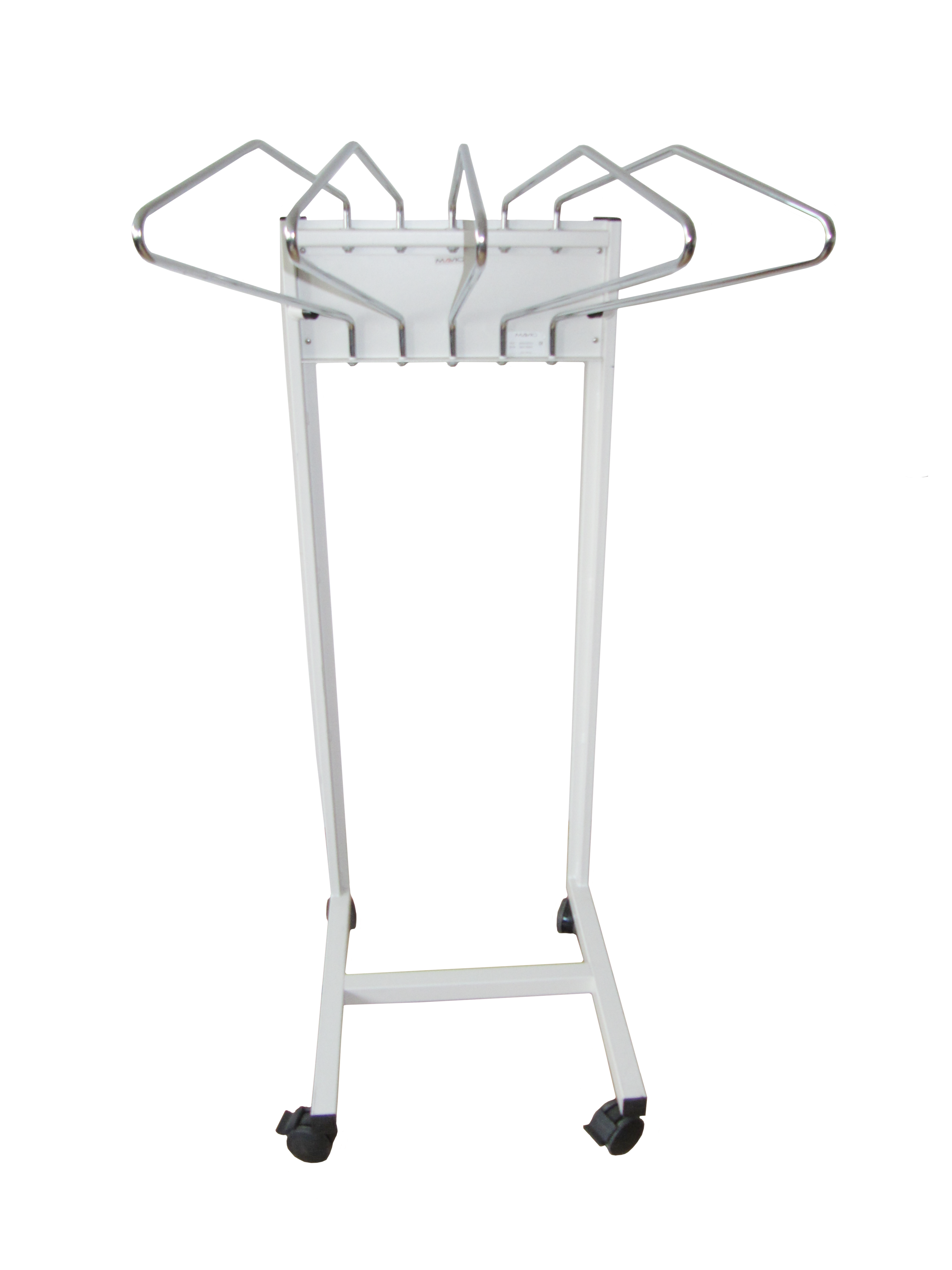 Mobile apron rack - 5-arm