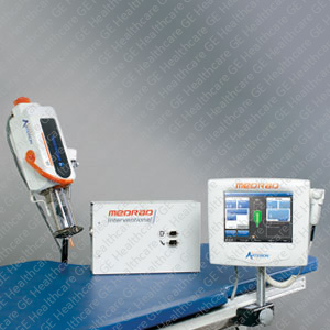 Mark 7 Arterion Injector on table mount with floor mount rack (GE Interventional Package)
