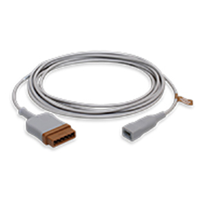Temperature Cable, 400 Series for Disposable Probes, Single, 3.6 m/12 ft