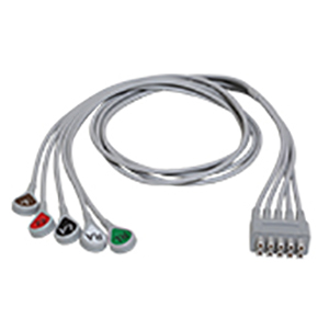 ECG Leadwire Set, 5-Lead - Grouped Snap AHA 74 cm (29