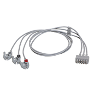 ECG Leadwire set, 3-lead, grabber, AHA, 74 cm/ 29 in