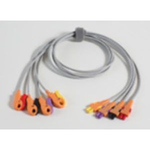 Leadwire Set, 4 Add-On, Grabber, AHA-HEIM