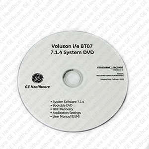 System Application Software DVD Voluson I/E 7.1.4